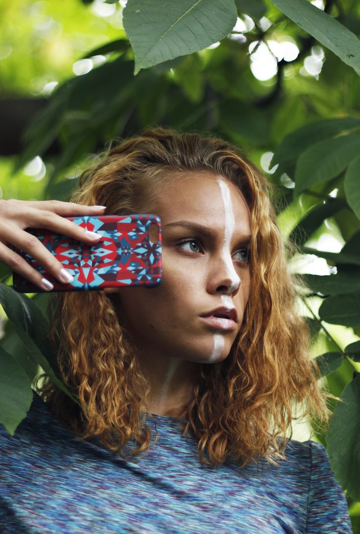 """Snowflakes in the Heat"" Shell'Oh! iPhone case designed by Katariina Karjalainen.  //Photography Alexandra Lehti, Model Jasmin Valta"