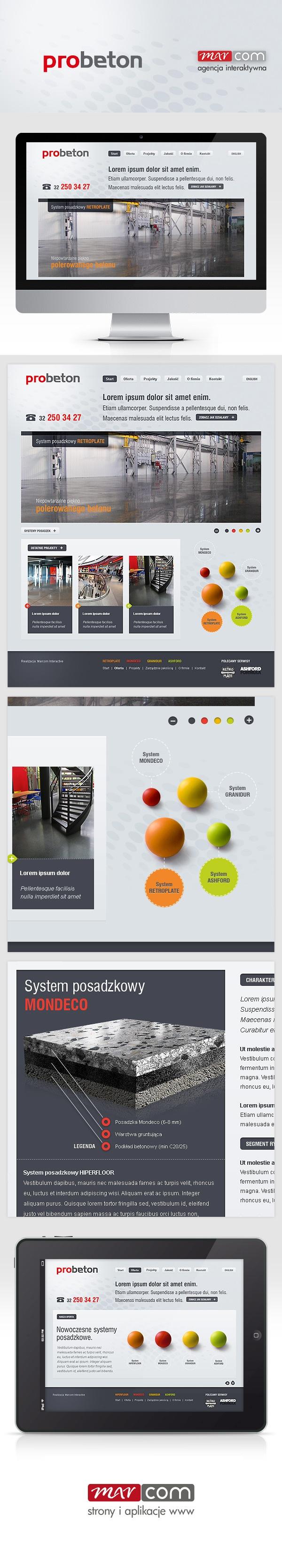 Projekt strony internetowej. Web design.