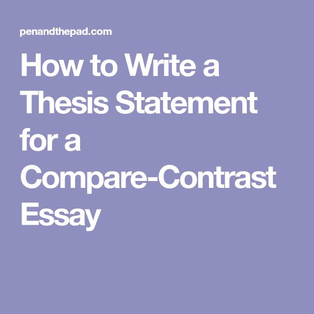 The  Best Writing A Thesis Statement Ideas On Pinterest  How To Write A Thesis Statement For A Comparecontrast Essay