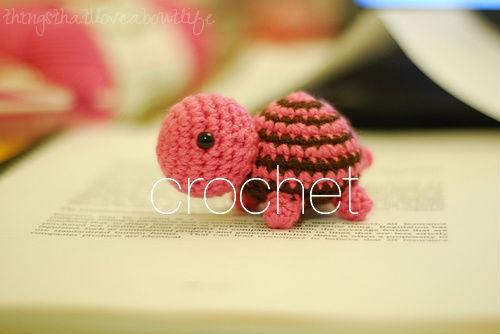 Everyone needs a tiny crochet turtle.