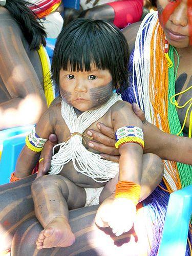 Indiazinha - Kayapo - Amazônia-Brasil.