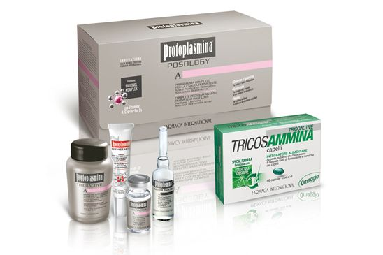 Protoplasmina Posology: Programma completo per la caduta persistente della durata di 4 settimane, specifico per casi di accentuata caduta dei capelli