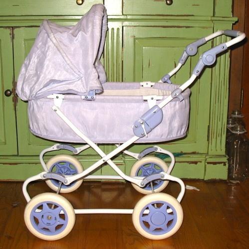 American Girl Bitty Baby Pram Retired Lavender Stroller 38