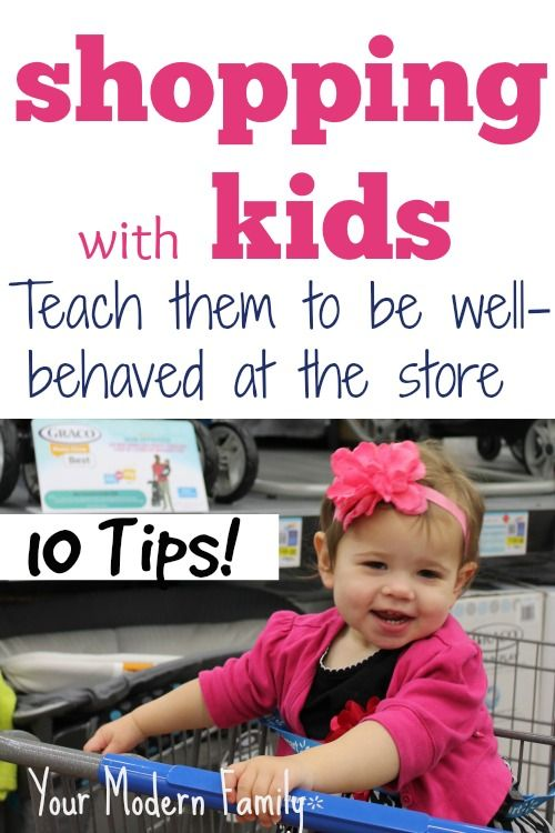 TEN tips to have a CALM shopping trip with the kids: