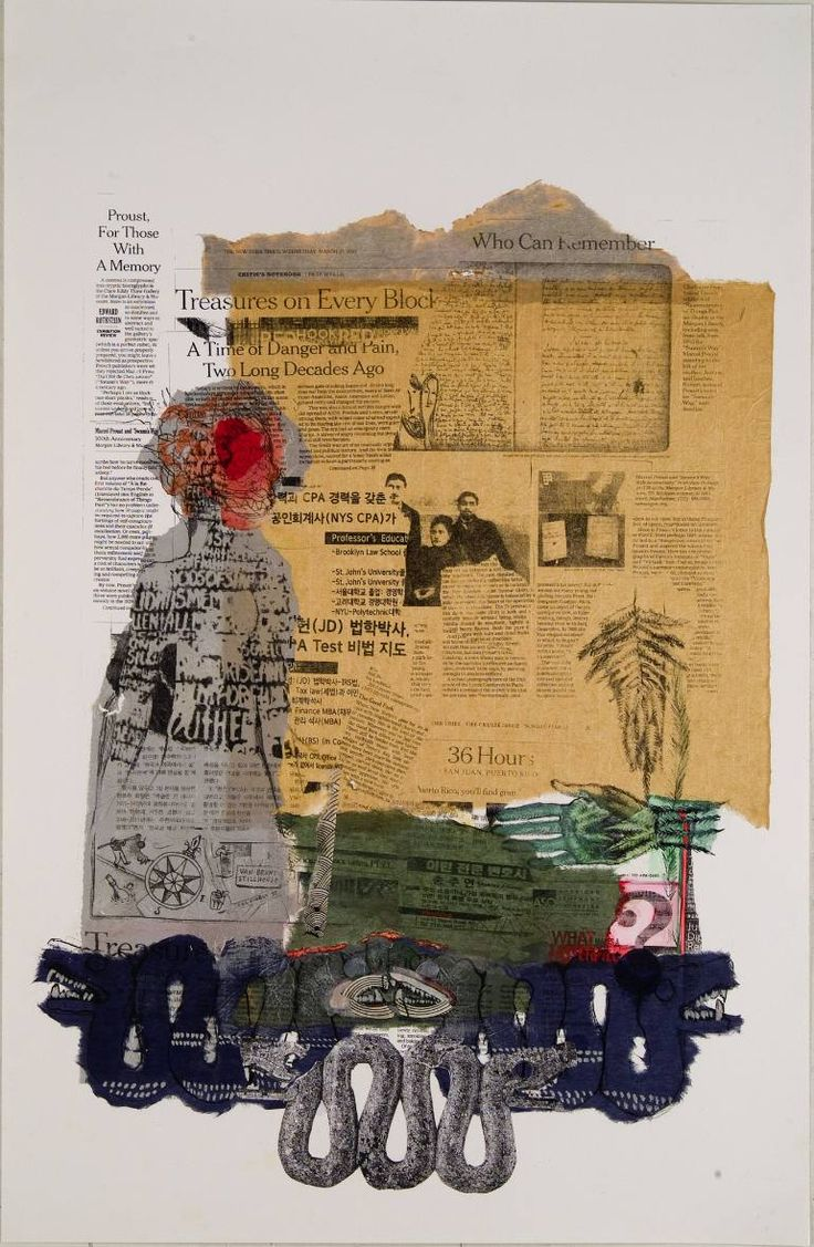 Buy Memory Games, a Lithograph on Paper by Joan Giordano from United States. It portrays: Abstract, relevant to: paint, printmaking, unique, Mixed Media, found objects, Kozo paper, photolithograph Printmaking: Lithograph, Paint, Monotype and Paper on Paper and Other.    Size: 38 H x 29 W x 3 in    This is a unique mixed media photolithograph, utilizing handmade asian papers, graphite, and paint.