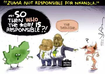 Zuma not responsible for Nkandla - Jerm Cartoon
