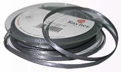 Ruban Satin gris argent 3mm x 10 mètres de Rayher