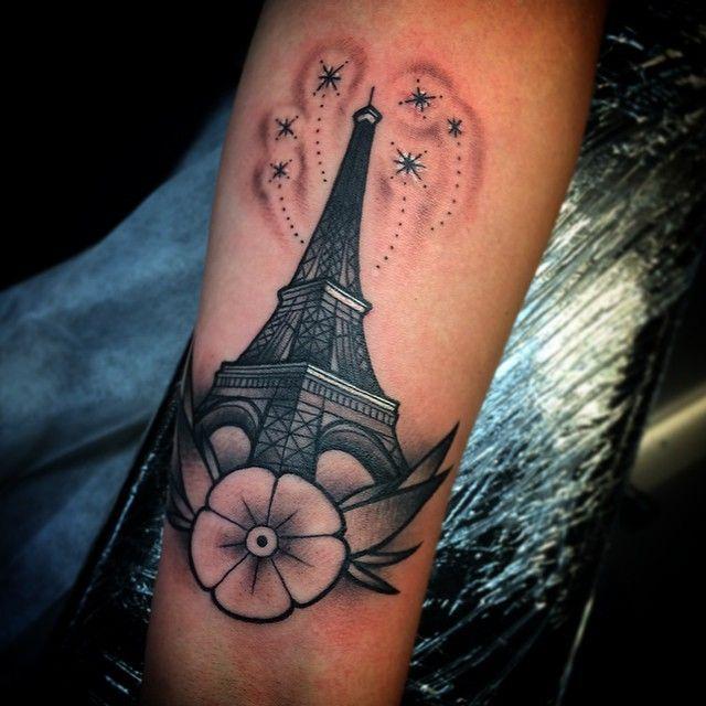 Best 25 eiffel tower tattoo ideas on pinterest paris for Black and grey tattoo artists near me