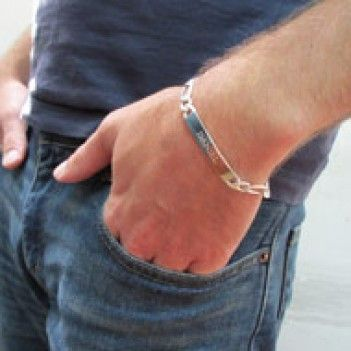 Jaqn977 - Sterling Silver personalized men's bracelet R980