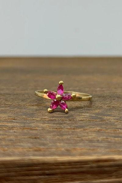 Vintage Pink Sapphire Marquise Flower Star 10k Gold Ring Size 3 In 2020 Pink Sapphire Vintage Pink 10k Gold