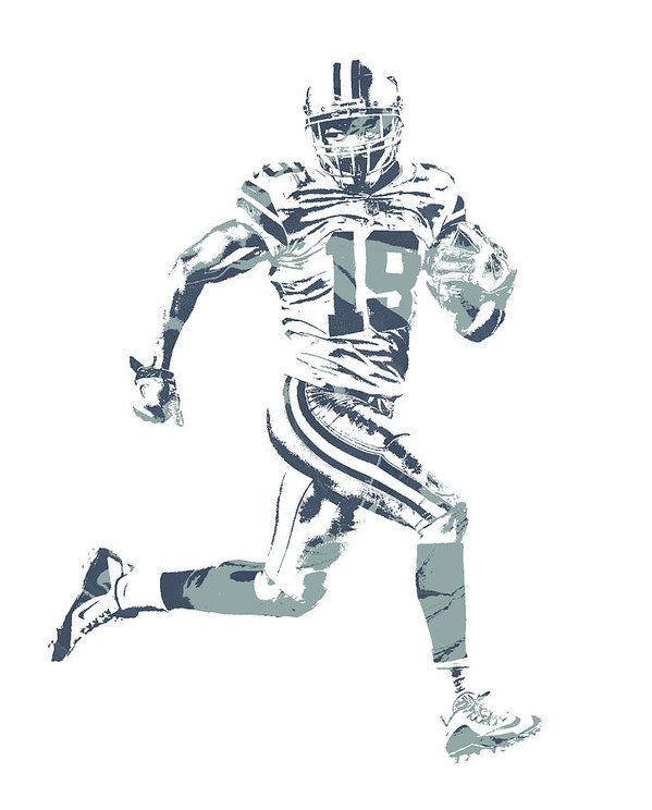 Amari Cooper Dallas Cowboys Pixel Art 2 Art Print By Joe Hamilton In 2020 Dallas Cowboys Cowboys Pixel Art