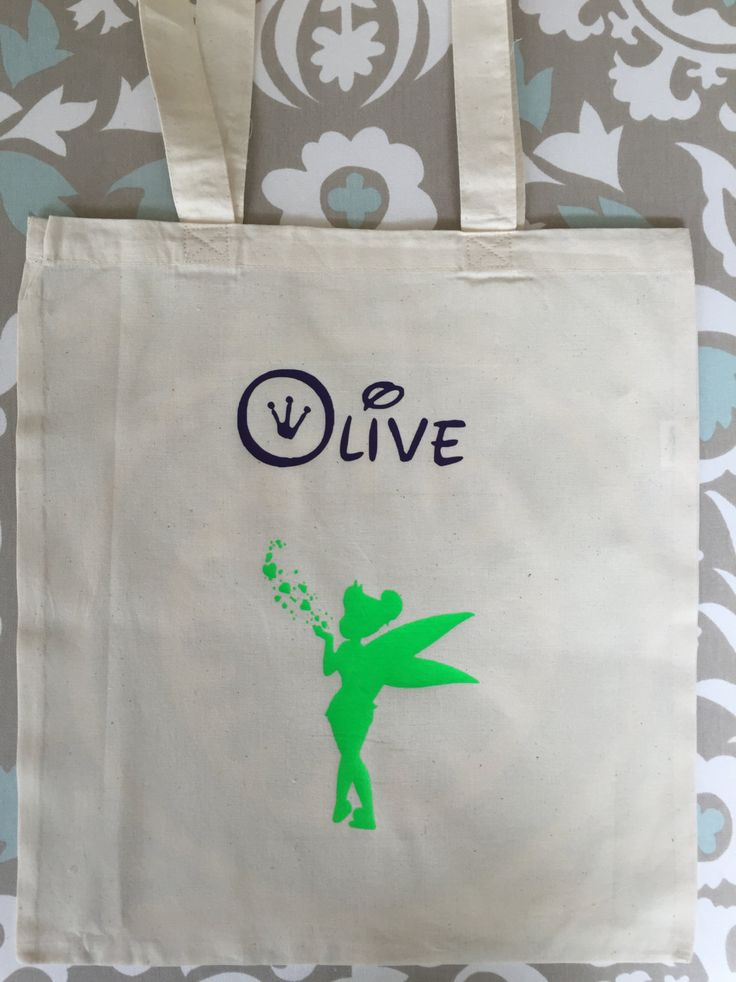 Personalized Tinkerbell Bag, Halloween, All occasions, Girl, Tote bag, Frozen, Candy Bag, School Bag, Name, Kids bag, Fairy by MeggieLousDesigns on Etsy