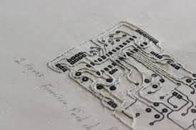 Image result for circuit board embroidery