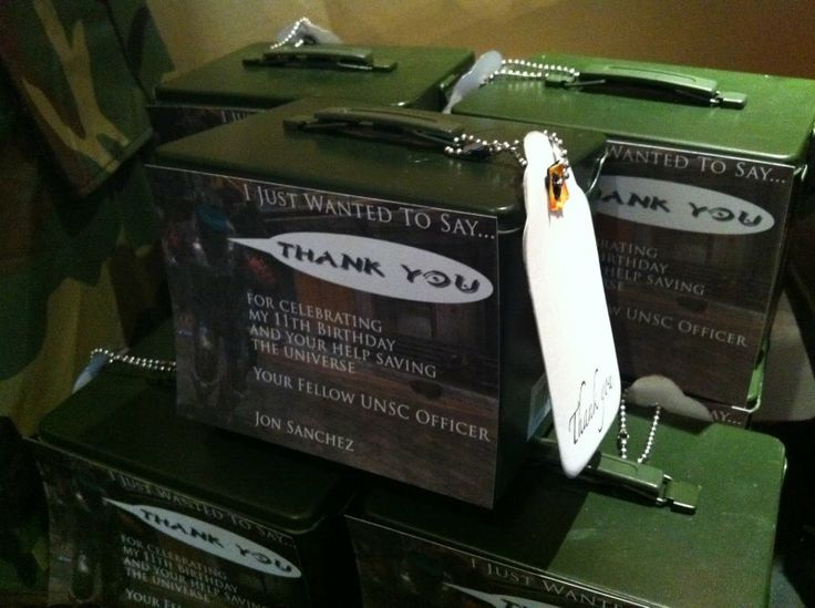 Maddycakes Muse: Halo Party - mini ammo boxes for party favors