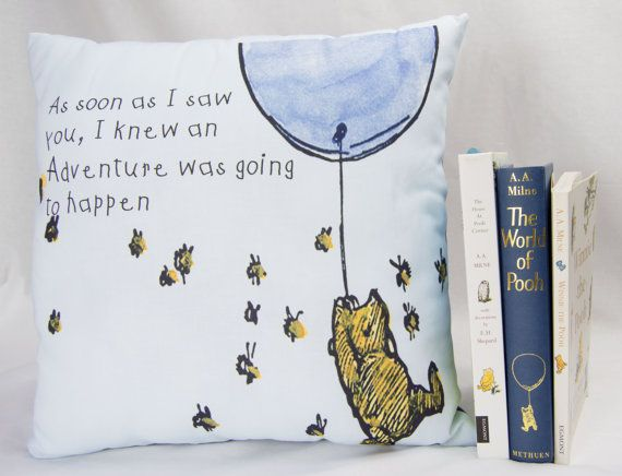 Winnie the Pooh Pillow Cover As soon as I saw You Pillow envelope back Classic Pooh