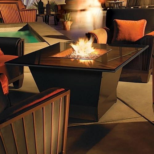 Zigguarat Square Outdoor Fire Pit Table Firepits Outdoor