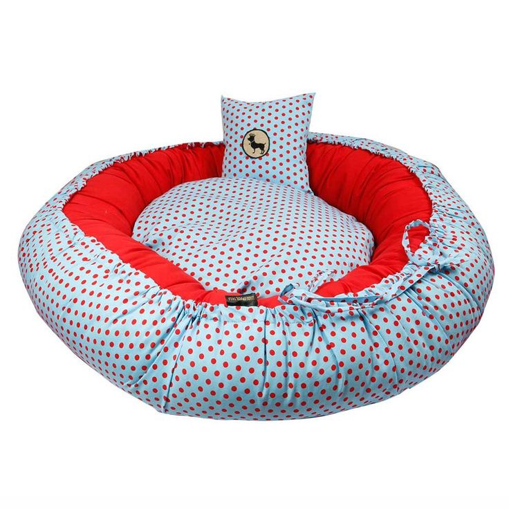 HUFT Dotty Round Bed with Cushion for Dogs