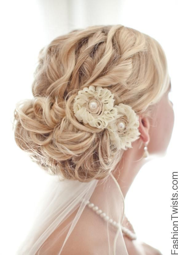 wedding hairstyles | Wedding Hairstyles for long hair with veil and tiara