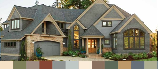 Midnight Blue Trim And Sandstone Siding Google Search