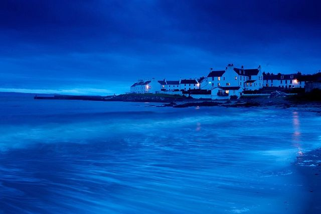 Stunning photo of a moonlit Port Charlotte on the Isle of Islay, Scotland, via Flickr.