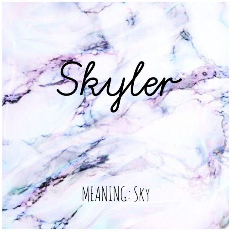 SKYLER #Names #Skyler #BabyNames | Unusual baby names ...