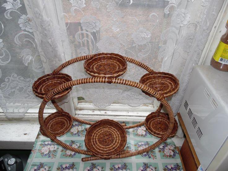 Фото мастер-класс. | Плетение из газет | ВКонтакте подставка для цветов
