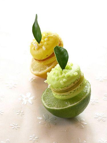 Citrus macarons - Lemon & Lime