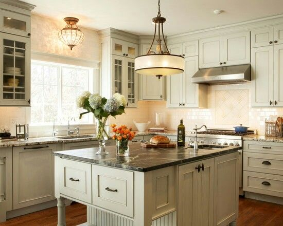 Classic look w granite countertops and hardwood floors #home #remodel #kitchen #bathroom #interiors  www.jimhicks.com