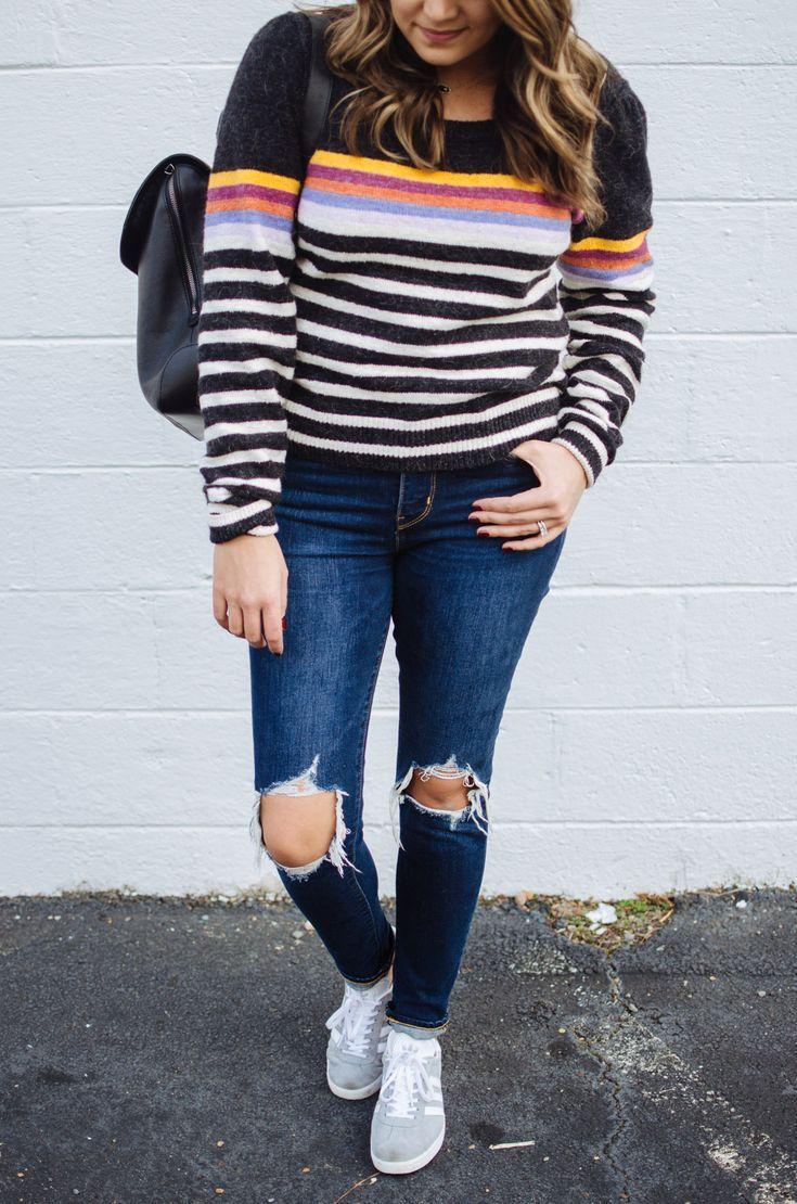 6e505ef330 stripe sweater outfit - retro striped sweater