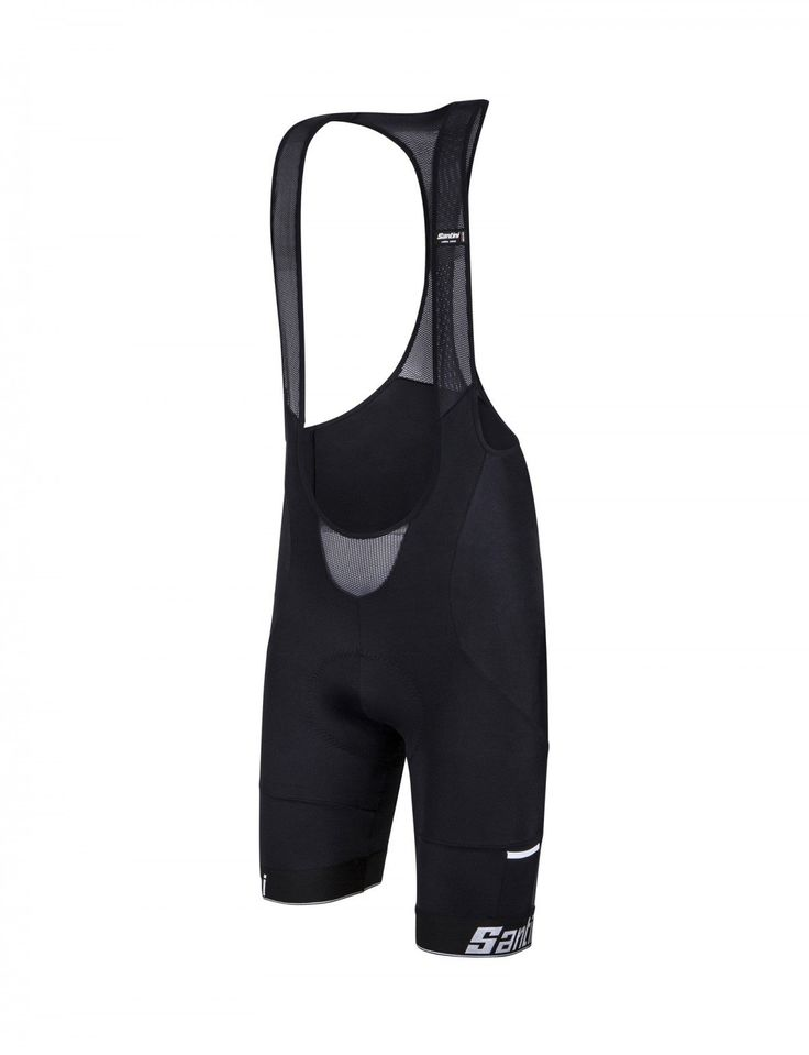 Men's Mago Cycling Bib Shorts in Black : Made in Italy by Santini