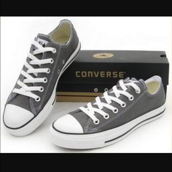 Low top Converse sneakers Low top gray converse in like new condition. Worn a few times but too tight on me. Will be shipped in original box. Price is negotiable Converse Shoes Sneakers