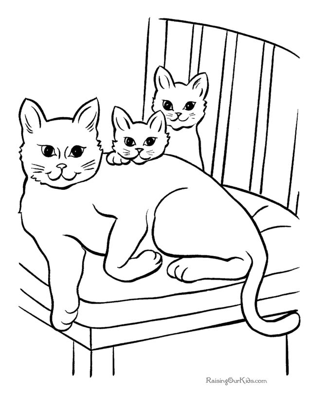 534 best coloring page cats images on pinterest | coloring books ... - Coloring Pages Cats Kittens