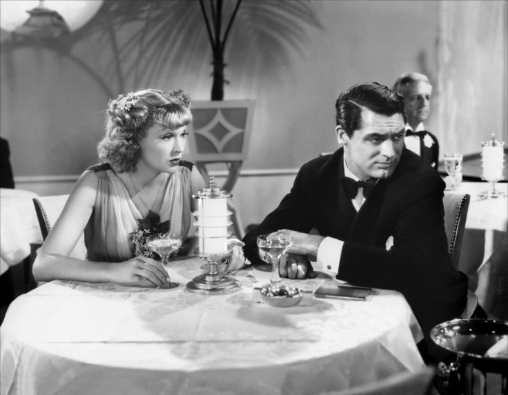 Irene Dunne & Cary Grant drinken Champagne in The Awful Truth! http://www.brouzje.nl
