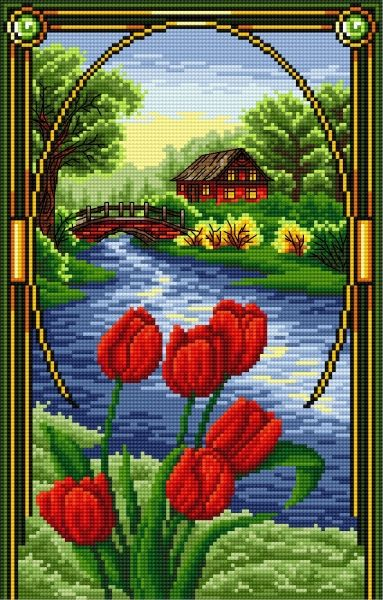 Tulipan (Kwiecień) (miesiące, kwiaty, widok)