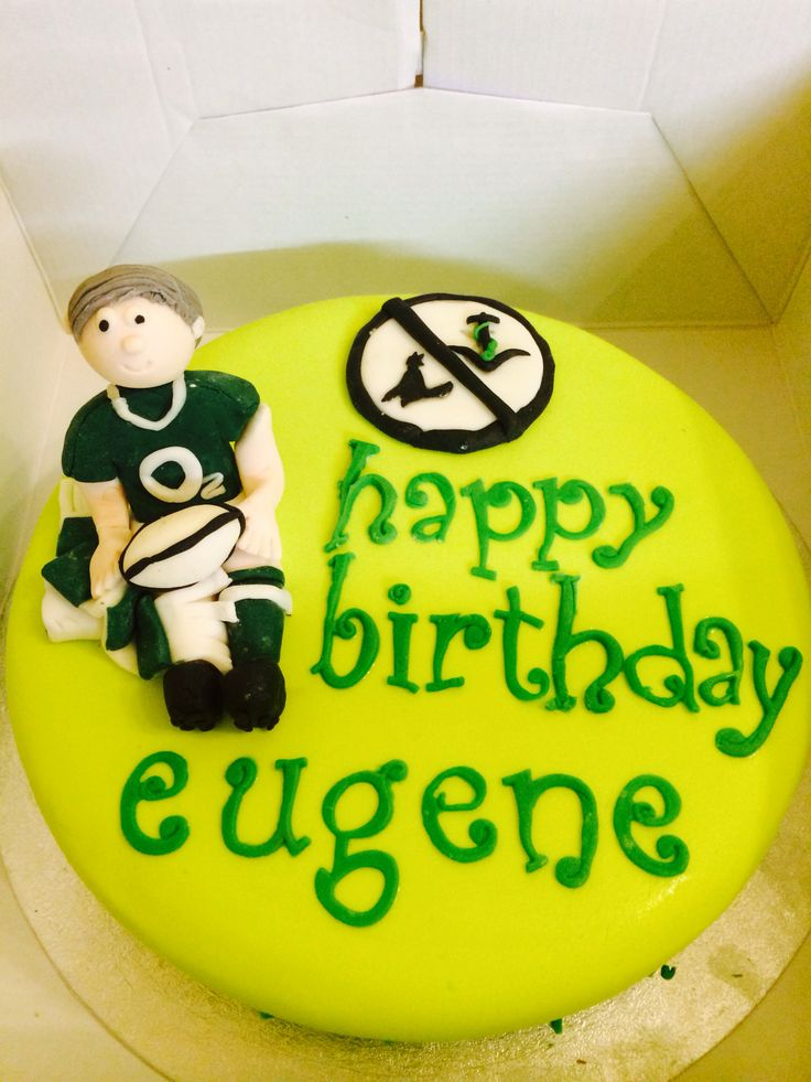 Irish rugby birthday cake