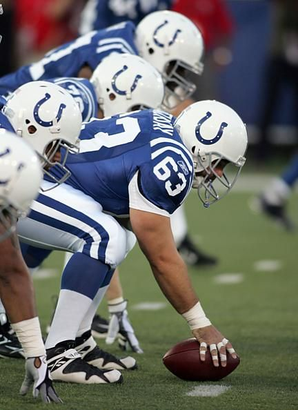 jeff saturday colts football card | Colts Lineman Jeff Saturday Prepares To Snap Ball Against Redskins ...