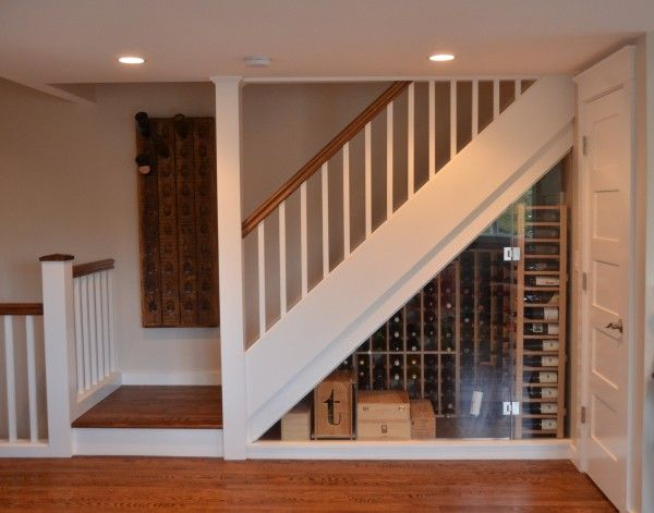 Under Stairs Wine Cellar - nicely tucked under the stairs.