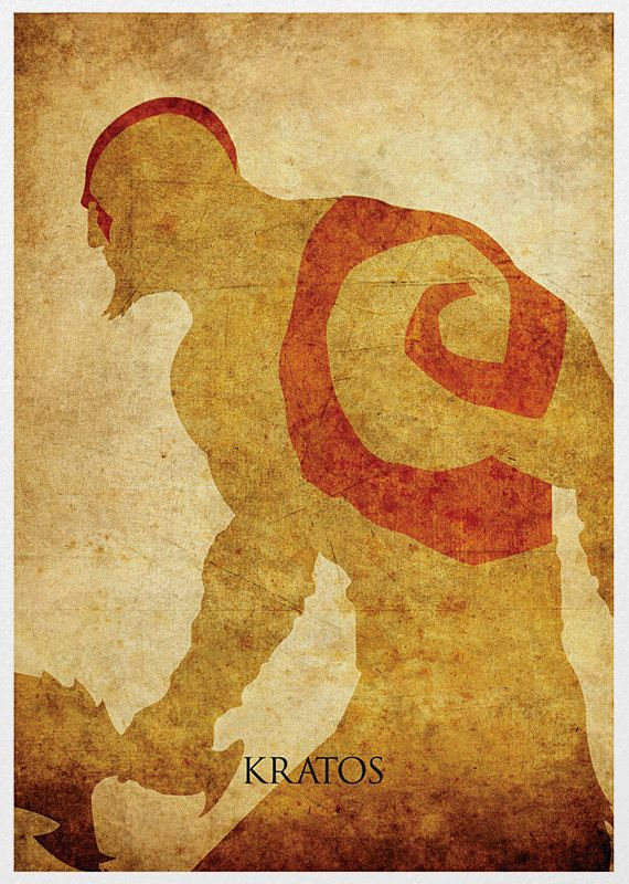God of War Kratos Vintage A3 Poster Print by Posterinspired// not even a huge GoW fan, but this poster...I like.