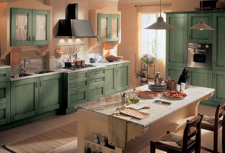 Elegant and Impressive Kitchen Design with Country Style Furniture