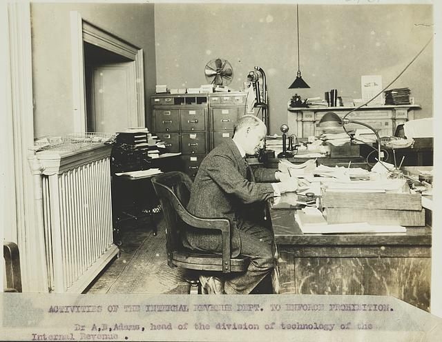 Activities of the Internal Revenue Dept. to enforce prohibition Dr. A. B.  Adams, head