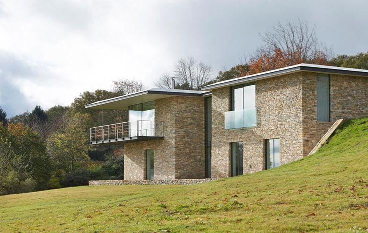 Stone House, The Manser Practice #cladding #stone #glass #modern #clean #simple #minimal #minimalist #modern #modernist #clean