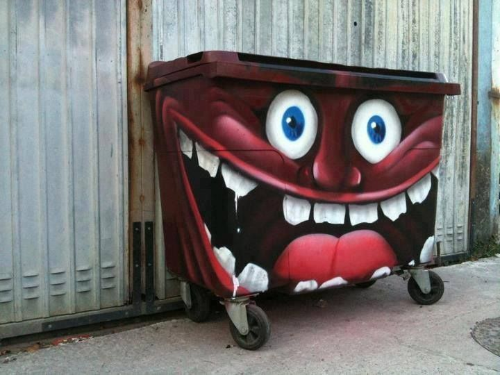 Best Art In The City Images On Pinterest Large Flower Pots - Artist turns nyc trash cans into giant flower filled vases
