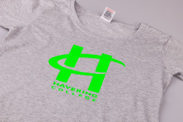 Fruit of the Loom Lady Fit T Shirt - Printed single colour Neon Green - Havering College