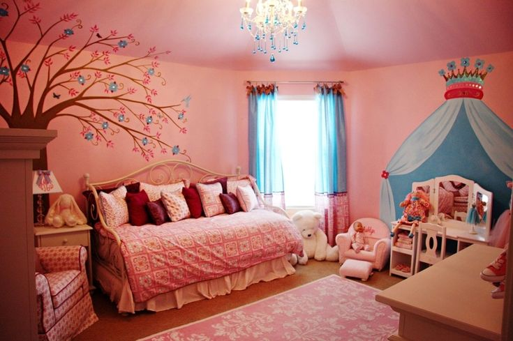 remarkable blue pink bedroom ideas teenage girls   Pictures of Teen Girl Bedroom Ideas In Pink Nuance With ...