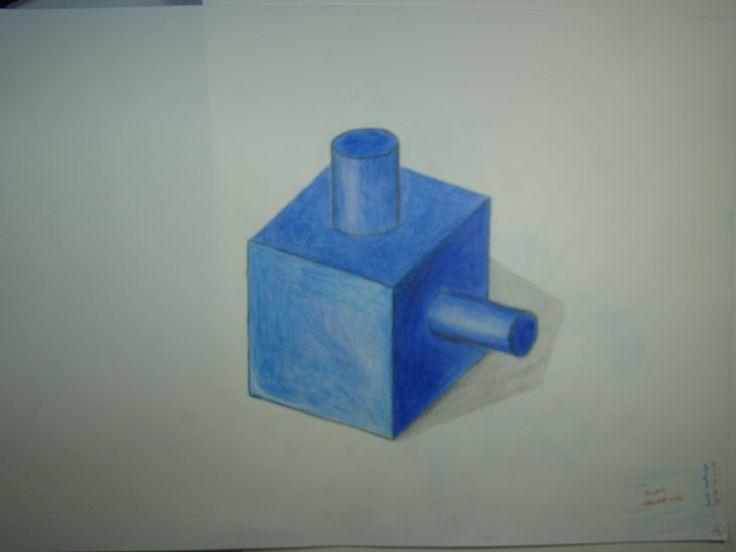Dibujo cilindros a lapiz
