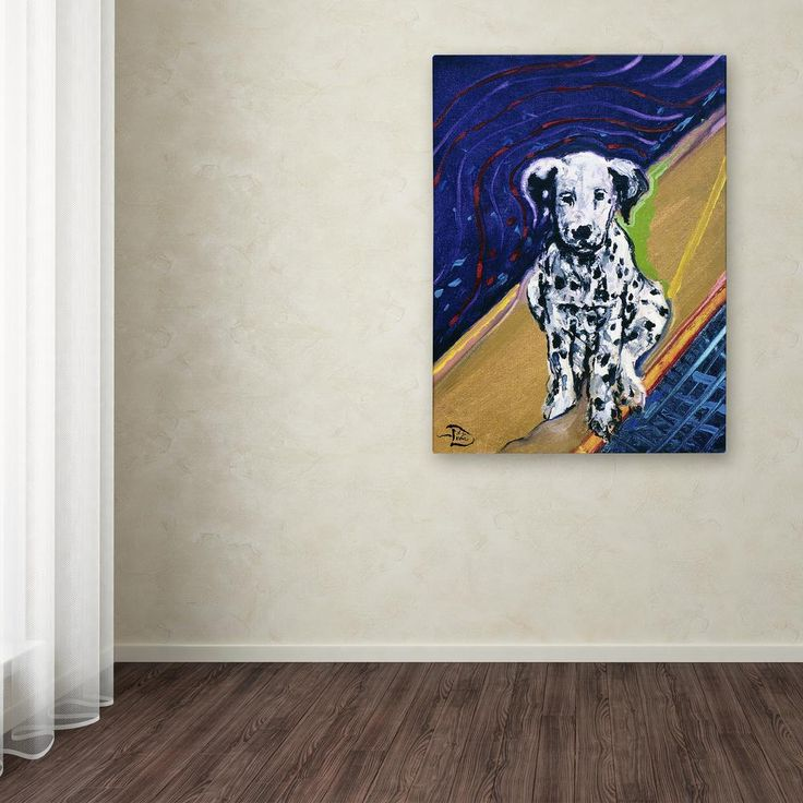"""19 in. x 14 in. """"Mose the Firehouse Toy"""" by Lowell S.V. Devin Printed Canvas Wall Art"""