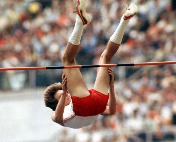 Greg Joy du Canada participe au saut en hauteur aux Jeux olympiques de Montréal de 1976. (Photo PC/AOC)