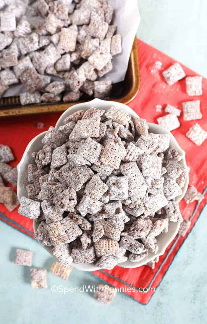 The Original Puppy Chow Recipe Goes By Many Names Muddy Buddies Monkey Munch Or Muddy Munch But Puppy Chow Ingredients Easy Puppy Chow Oatmeal Cookies Chewy