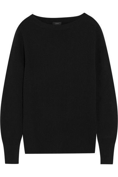 190339fd0  144.42 - J Crew black merino wool and cotton-blend sweater (Net-A-Porter)