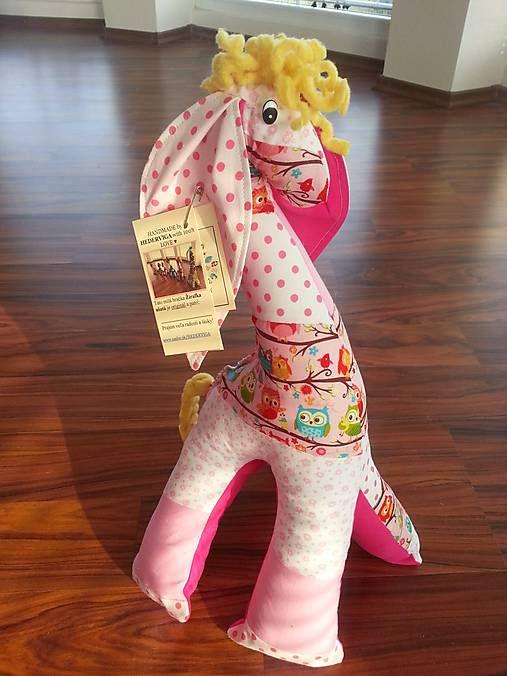 HEDERVIGA / Žirafka ušatá ... ružová sovičková /50cm/